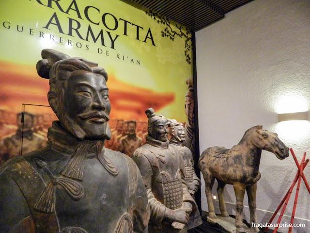 Exposição dos Guerreiros de Xian em Madri, em janeiro de 2014