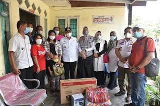 Kunjungi Yayasan Rumah Kasih Gunung Sion Kanaan, Bupati Batu Bara Berikan Bantuan