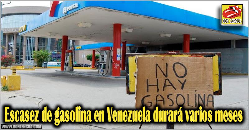 Escasez de gasolina en Venezuela durará varios meses más