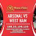 Prediksi Arsenal vs West Ham United Sabtu 07 Maret 2020