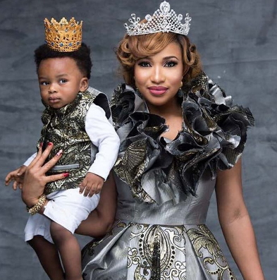 tonto dikeh son first birthday