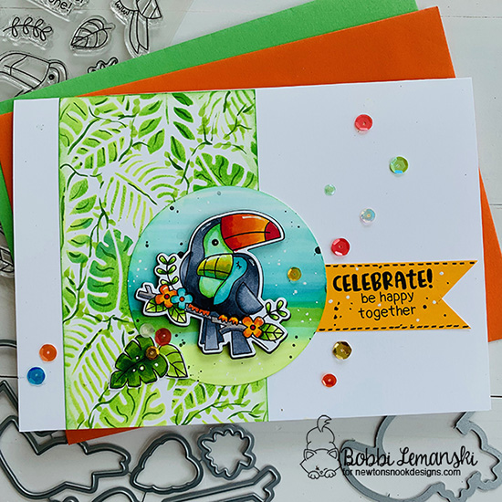 Celebrate by Bobbi features Tropical Leaves, Toucan Party, and Cocktail Mixer by Newton's Nook Designs; #newtonsnook