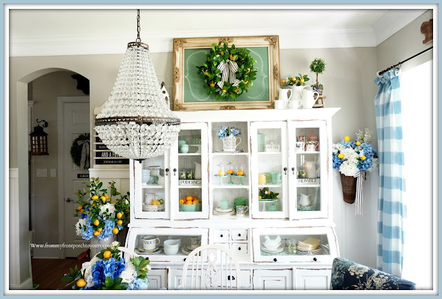 Blue & White French Farmhouse-Dining Room-From My Front Porch To Yours