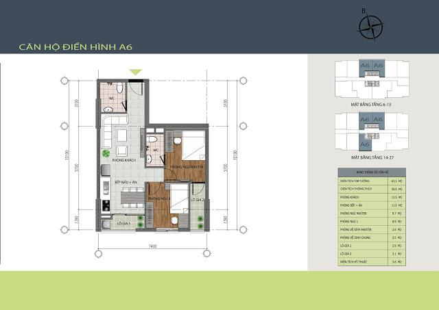 Thiết kế căn hộ A6 Hồng Hà Tower