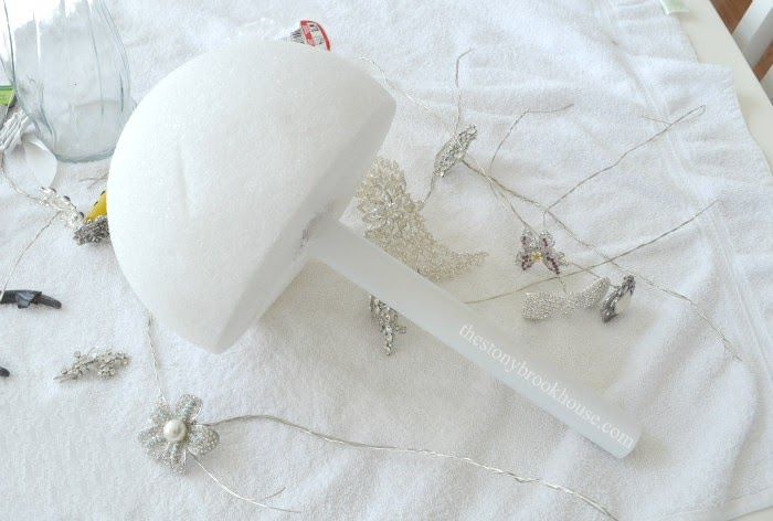 Spray Painted Handle for Brooch Bouquet