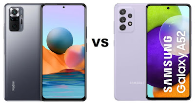 مقارنة بين Xiaomi Redmi Note 10 Pro و Samsung Galaxy A52 مقارنة بين شاومي ريدمي نوت 10 برو و سامسونج جالاكسي A52
