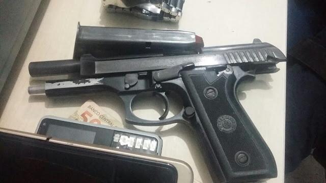 Agente de trânsito é preso com arma .40 e numeração raspada