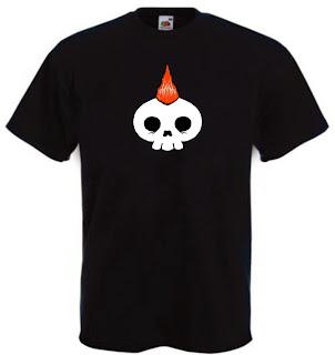 maglietto scheletro
