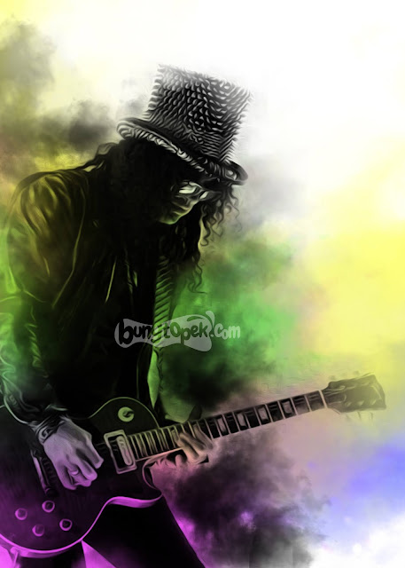 Slash with colorful smoke effect