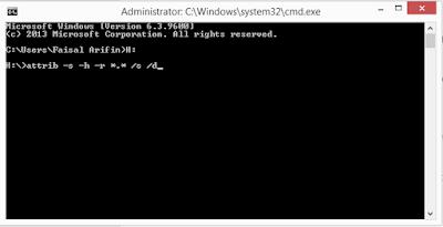 Cara Mengembalikan File Yang Terhidden Oleh Virus di Flashdisk