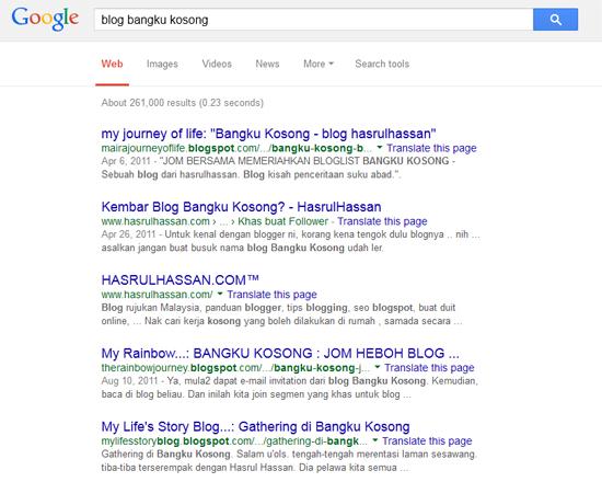 Blog Bangku Kosong