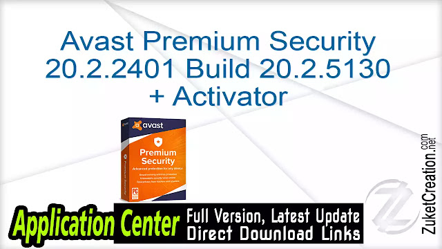 Avast Premium Security 20.2.2401 Build 20.2.5130 + Activator