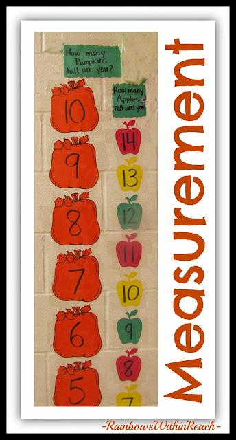 Non-Standard Measurement using pumpkins as unit of measurement via RainbowsWithinReach