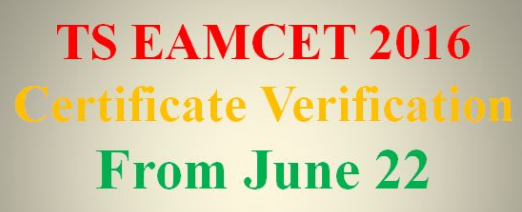 TS Eamcet certificate verification dates 2016 & helpline Centers of counselling