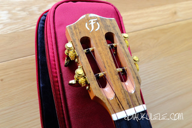 Flight Diana Soundwave Tenor Ukulele headstock