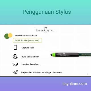 Penggunaan Stylus