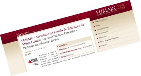 MG Concurso Especialista e Professor de Educação Básica
