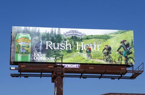Sierra Nevada Pale Ale Rush hour billboard