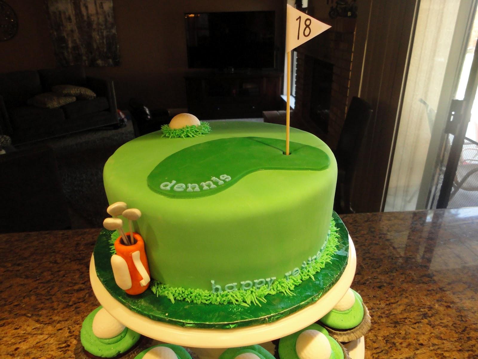 Pink Sugar Cupcakes Golf Themed Retirement Treats