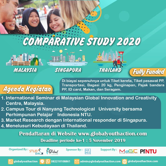 [FULLY FUNDED] COMPARATIVE STUDY 2020 Mengunjungi Malaysia, Singapura, Thailand (8-13 Januari 2020)