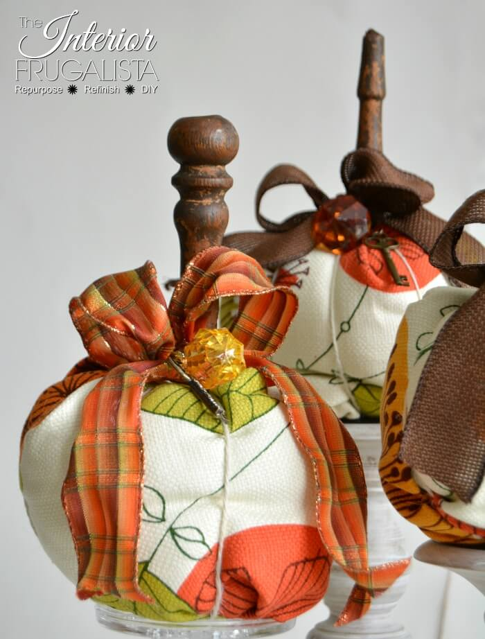 Modern Non-Traditional Fabric Pumpkins