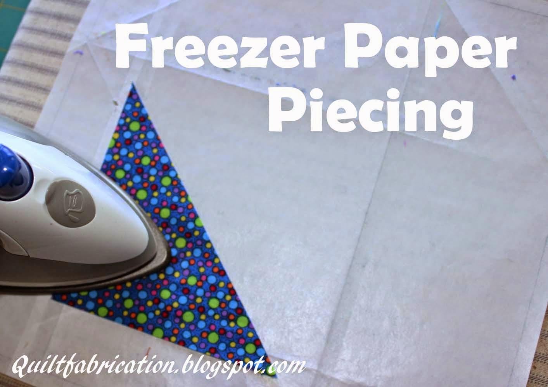 freezer paper piecing iron sewing