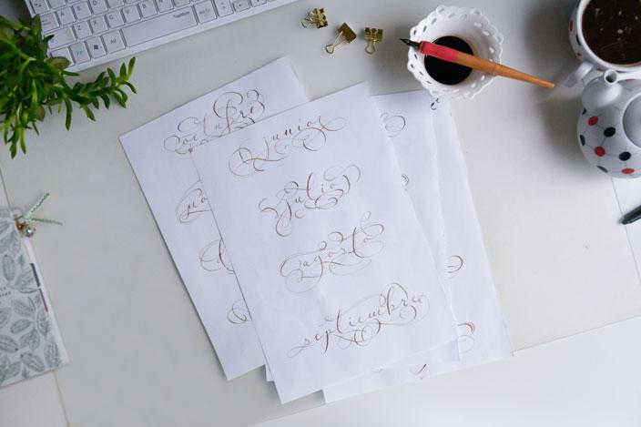 free printable flourish calendar 2020