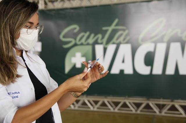 Santa Cruz antecipa prazo da segunda dose da Pfizer