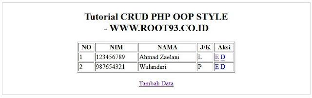 antar muka untuk menampilkan data (read page) - root93