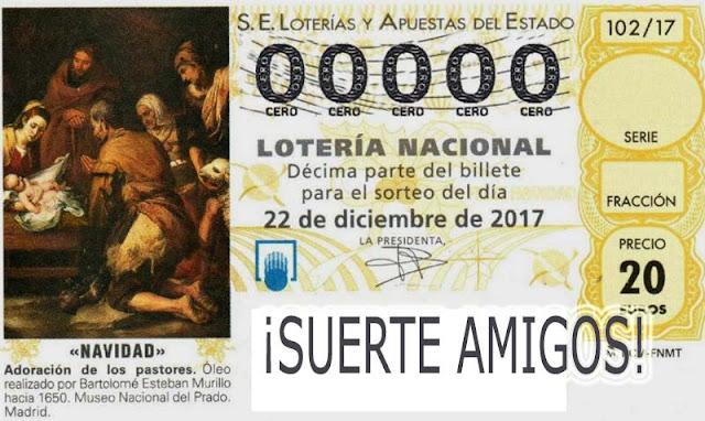informacion de la loteria de navidad 2017