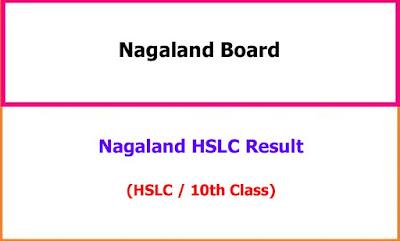 Nagaland HSLC 10th Class Exam Result