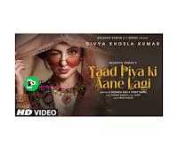 Yaad piya ki Aane Lagi whatsapp status|| Yaad Piya ki aane lagi Female|| Divya Khosla Kumar Yaad Piya Ki aane whatsapp status video