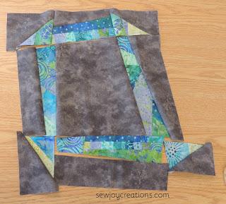 batik jelly roll fabric liberated churn dash block