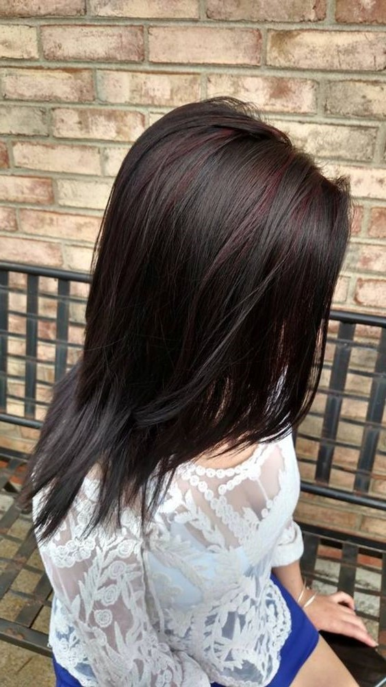Red highlights on black brown blonde hair hairstyles hair red highlights for black hair pmusecretfo Choice Image