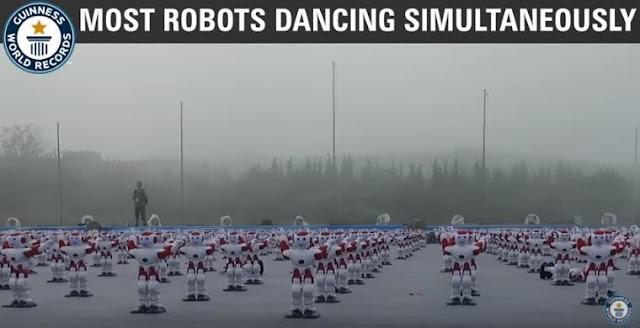 Bayangkan 1000 + Robot Menari Bersama Memecahkan Record