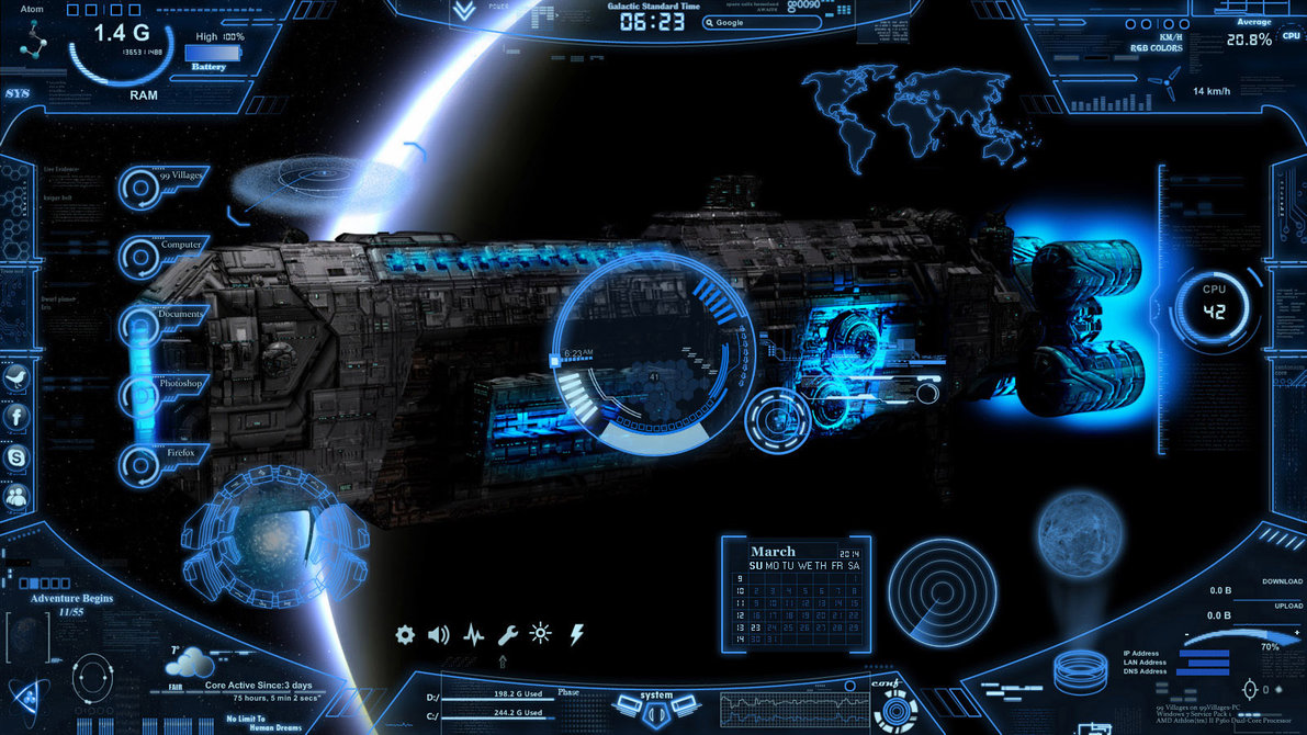 Neon space rainmeter 14 rainmeter skins neon space rainmeter 14 gumiabroncs Image collections