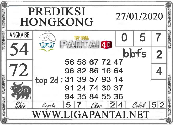 PREDIKSI TOGEL HONGKONG PANTAI4D 27 JANUARI 2020