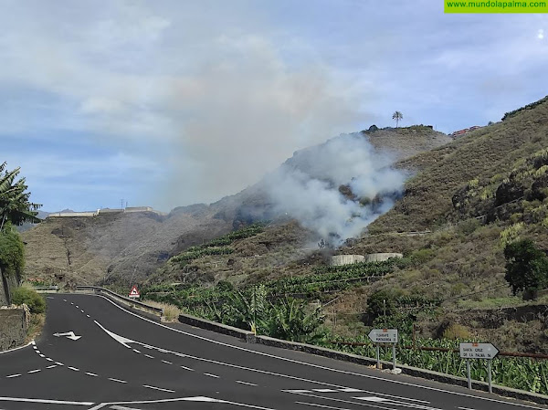 Doble intervención ayer de los Bomberos de La Palma