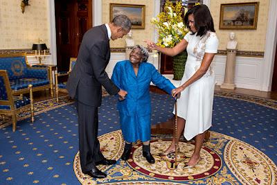 Barack Obama, Michelle Obama, Fehér Ház, Virginia McLaurin,