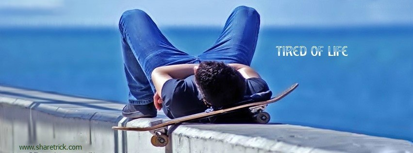 Boy with his skateboard facebook cover picture is one of the coolest timeline banner photo for boys and their FB accounts plus other Social Profiles Boy waiting with luggages facebook cover