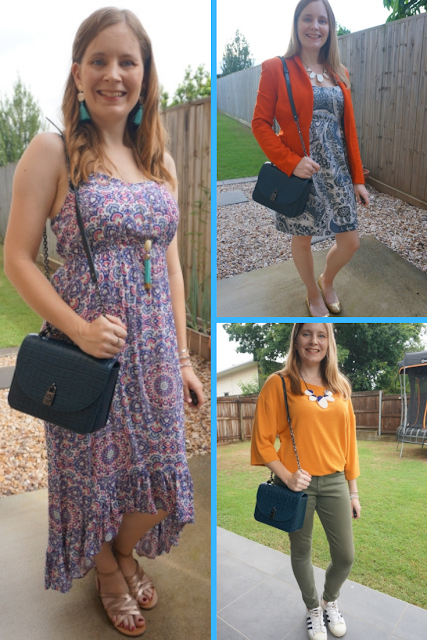 awayfromblue blog 3 ways to wear teal rebecca minkoff love too croc crossbody bag