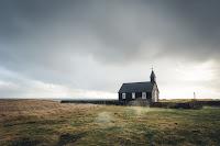 A lone church in a dark world