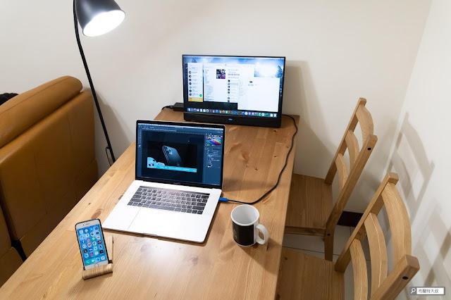 【開箱】滿版視野、極致輕巧,給奇 GeChic 2101H 攜帶式螢幕 - 一條 USB-C 線就可以搞定 MacBook Pro 的影像傳輸