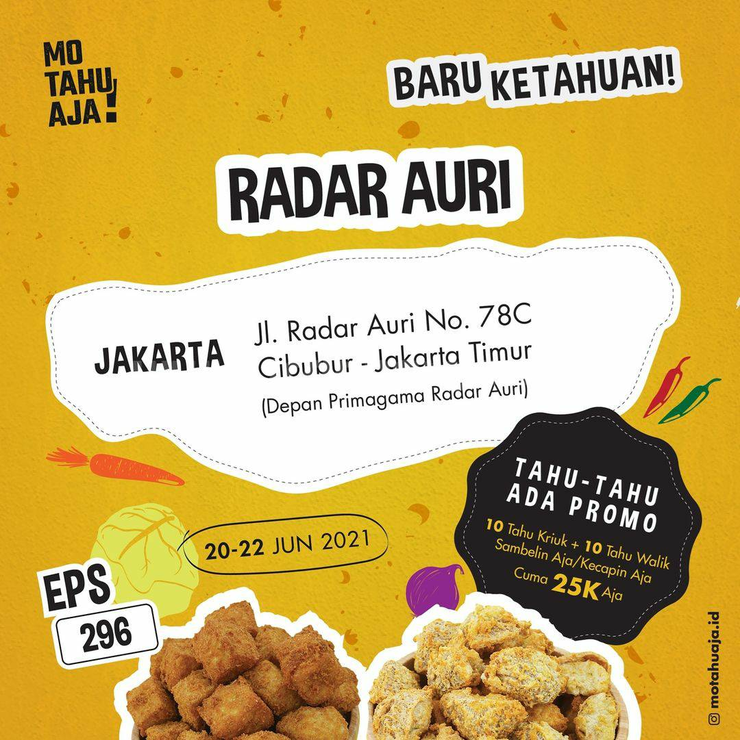 Promo Mo Tahu Aja Radar Auri Jakarta Timur Spesial Opening