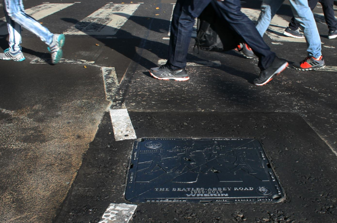 British Beatles Fan Club Abbey Road Gets Bespoke Manhole Cover On 50th Anniversary