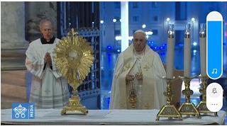 Martin Karakabu Intisari Kotbah Paus Fransiskus dalam Adorasi Ekaristi