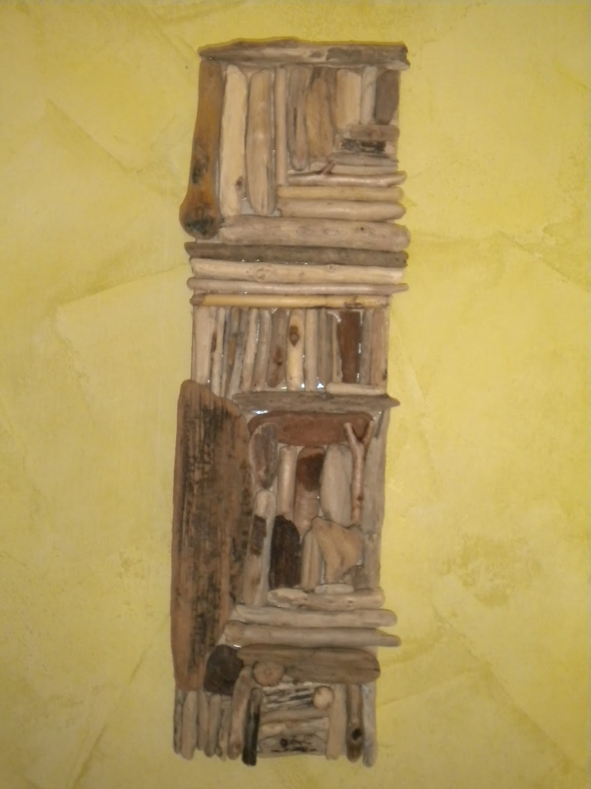 latelierdepec tableau 3d en bois flotte. Black Bedroom Furniture Sets. Home Design Ideas