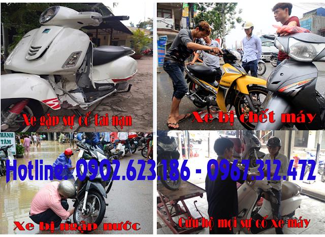 Sửa xe máy lưu động, cứu hộ xe máy tận nơi tại quận Tân Phú