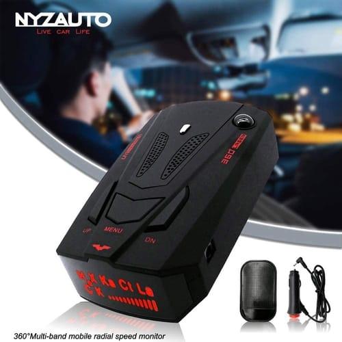 Review NYZAUTO 360 Detection Radar Detector Voice Alert