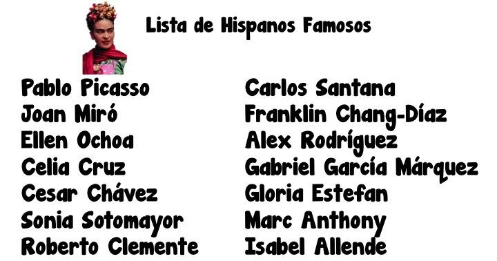 Fun for Spanish Teachers: Hispanic Heritage Month Project